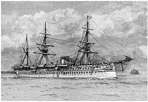 HMS JUMNA-Euphrates Class troopship-launched 1866
